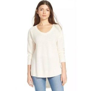 Madewell Ariel Pullover High Low Textured Sweater